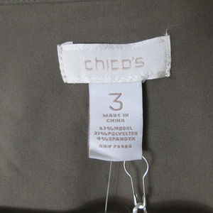 Chico's Tops - Chico's green tab sleeve tie top blouse NWT